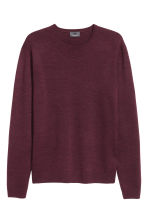 Merino wool jumper - Burgundy - Men | H&M CN 2