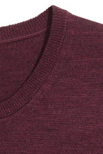 Merino wool jumper - Burgundy - Men | H&M CN 3