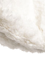 Faux fur tube scarf - White - Kids | H&M CN 2