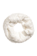 Faux fur tube scarf - White - Kids | H&M CN 1
