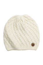 Textured hat - Natural white - Kids | H&M CN 1