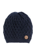 Textured hat - Dark blue - Kids | H&M CN 1
