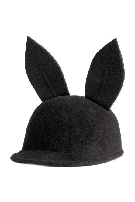 Felt cap with ears