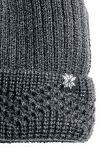 Rib-knit hat - Dark grey/Glittery - Kids | H&M CN 2
