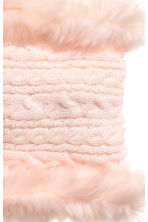 Cable-knit tube scarf - Powder pink - Kids | H&M CN 2