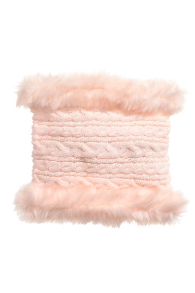 Cable-knit tube scarf - Powder pink - Kids | H&M CN 1