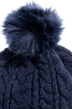 Cable-knit hat - Dark blue - Kids | H&M CN 2