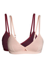 2-pack non-wired bras - Burgundy/Pink - Ladies | H&M CN 2
