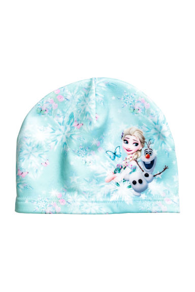 Patterned fleece hat - Light Turquoise/Frozen - Kids | H&M CN 1