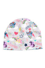 Patterned fleece hat - Light grey/My Little Pony - Kids | H&M CN 1