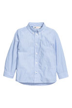 Cotton shirt - Lt.blue/Narrow strip - Kids | H&M CN 2