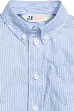 Cotton shirt - Lt.blue/Narrow strip - Kids | H&M CN 3