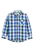 Cotton shirt - Cornflower blue/Checked - Kids | H&M CN 2