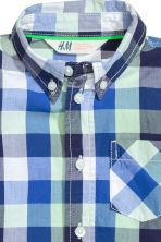 Cotton shirt - Cornflower blue/Checked - Kids | H&M CN 3