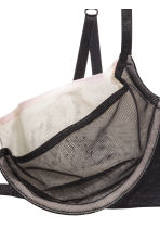 Underwired mesh bra - Black/Powder - Ladies | H&M CN 3