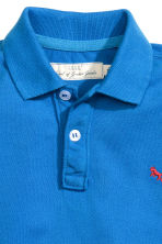 Cotton polo shirt - Cornflower blue - Kids | H&M CN 3