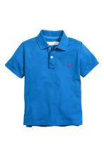 Cotton polo shirt - Cornflower blue - Kids | H&M CN 2