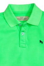 Cotton polo shirt - Neon green - Kids | H&M CN 3