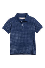 Cotton polo shirt - Dark blue/Spotted - Kids | H&M CN 2