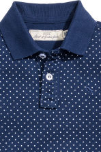 Cotton polo shirt - Dark blue/Spotted - Kids | H&M CN 3