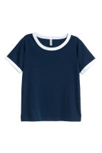 Short T-shirt - Dark blue - Ladies | H&M CN 2