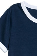 Short T-shirt - Dark blue - Ladies | H&M CN 3
