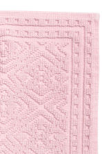 Jacquard-weave bath mat - Light pink - Home All | H&M CA 2