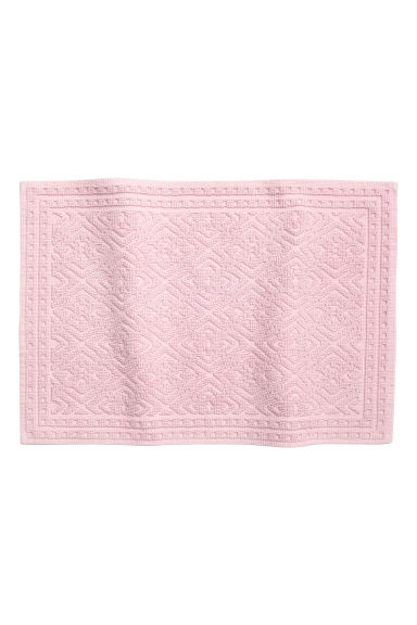 Jacquard-weave bath mat - Light pink - Home All | H&M GB