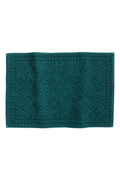 Jacquard-weave bath mat - Petrol - Home All | H&M CN 1