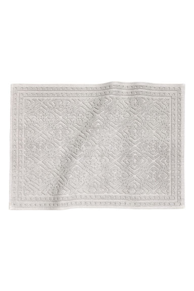 Jacquard-weave bath mat - Light grey - Home All | H&M CA 1