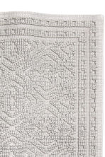 Jacquard-weave bath mat - Light grey - Home All | H&M CA 2