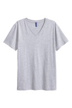 V-neck T-shirt - Grey - Men | H&M CN 2