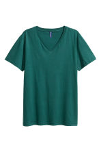 V-neck T-shirt - Green - Men | H&M CN 2
