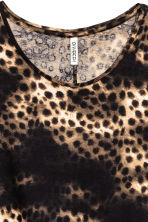 Jersey crêpe top - Black/Leopard print - Ladies | H&M CN 3