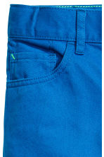 Twill trousers Regular fit - Cornflower blue -  | H&M CN 3