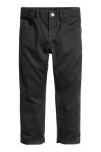 Twill trousers Regular fit - Black -  | H&M CN 2