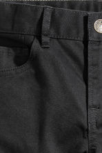 Twill trousers Regular fit - Black -  | H&M CN 3