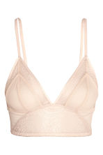 Non-wired bra in lace and mesh - Powder - Ladies | H&M CN 2