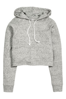 Cropped hooded top