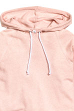 Cropped hooded top - Powder pink - Ladies | H&M 3