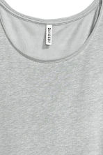 Long linen-blend T-shirt - Grey - Ladies | H&M CN 3