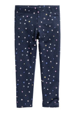 Sturdy jersey leggings - Dark blue/Stars - Kids | H&M CN 2