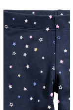 Sturdy jersey leggings - Dark blue/Stars - Kids | H&M CN 3