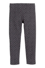 Sturdy jersey leggings - Dark grey/Hearts - Kids | H&M CN 2