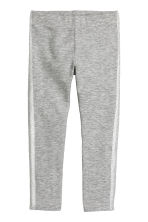 Sturdy jersey leggings - Grey marl - Kids | H&M CN 2