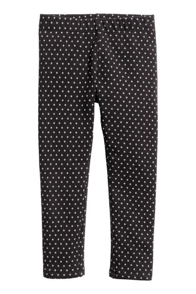 Leggings in jersey pesante - Nero/fantasia - BAMBINO | H&M IT 1