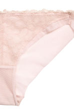 Mesh bikini briefs - Powder pink - Ladies | H&M CN 3