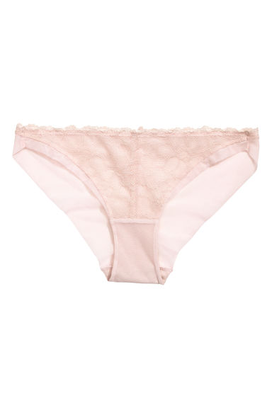 Mesh bikini briefs - Powder pink - Ladies | H&M CN 1