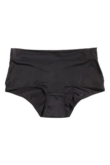 Microfibre shorts High waist - Black - Ladies | H&M CN 1