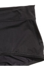 Microfibre shorts High waist - Black - Ladies | H&M CN 2